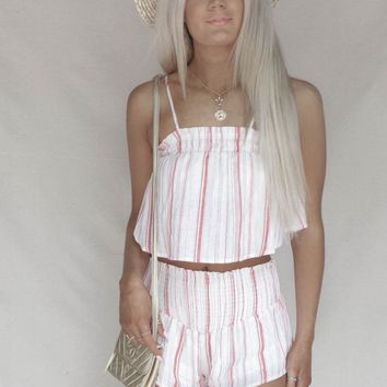 Reef Island Linen Stripe Two Piece Set