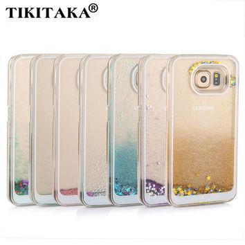 Glitter Quicksand Star Case For Samsung Galaxy S6, S7 edge