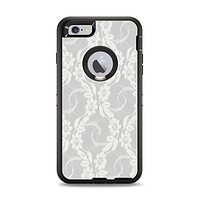 The White Floral Lace Apple iPhone 6 Plus Otterbox Defender Case Skin Set