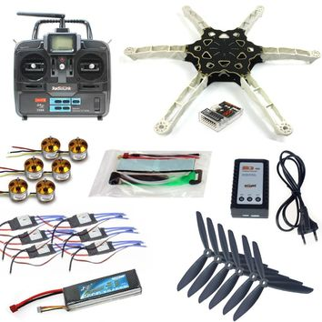 QQ SUPER Multi-rotor Flight Control DIY FPV Multi-rotor Drone Alien Across Carbon Fiber RC Quadrocopter TXRX Motor ESC F11798-C
