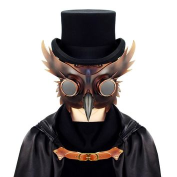 2017 New Vintage Dr. Beulenpest Steampunk Plague Doctor Mask Bird Beak Cosplay Fancy Mask Gothic Retro Halloween Cosplay Mask