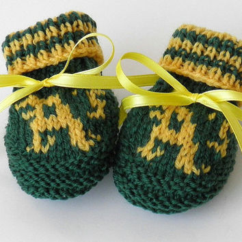 Oakland A's Super Fan MLB Baby Booties Size 0 to 3 Months