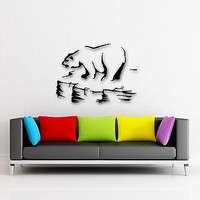 Wall Stickers Vinyl Decal Polar Bear Arctic Ice Floe Animal  Unique Gift (ig337)