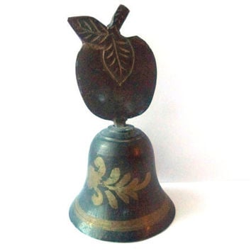 Table Brass Bell - Vintage - Apple