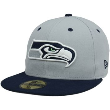 New Era Seattle Seahawks Two-Tone 59FIFTY Fitted Hat - Gray/College Navy