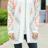 Thing Called Love Cardigan, White
