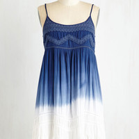 ModCloth Boho Mid-length Sleeveless Shift Gust in Time Dress