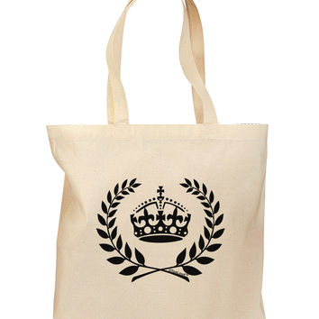 Crown and Laurel Grocery Tote Bag