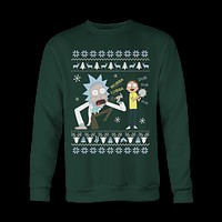 Dub Dub Rick and Morty Ugly Sweatshirt Christmas