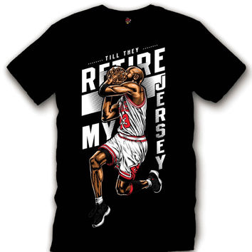 The Fresh I Am Clothing Retire My Jersey 72-10 11's Tee