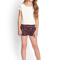 FOREVER 21 GIRLS Boxy Crochet Tee (Kids)