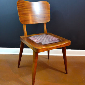 Beautiful Dark Brown Mid Century Modern Danish Chair, Vintage Mengel Chair, Teak Chair