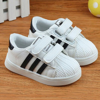 Spring/Autumn girls boys shoes patch light kids sneakers sport children baby shoes