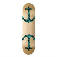 Andes teal blue sailor hipster nautical anchor skate board decks from Zazzle.com