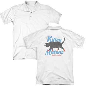 Its Always Sunny In Philadelphia - Kitten Mittons (Back Print) Mens Regular Fit Polo