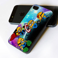 Despicable Me Minion The Avenger Galaxy - iPhone Case Print on Hard Cover - iPhone 4 Case - iPhone 4S Case - iPhone 5 Case