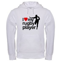 I Love My Rugby Player! Hoodie by ruckoff