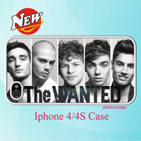 The WANTED 03  Iphone 4 and 4s Black/white case Ship by MoonCase
