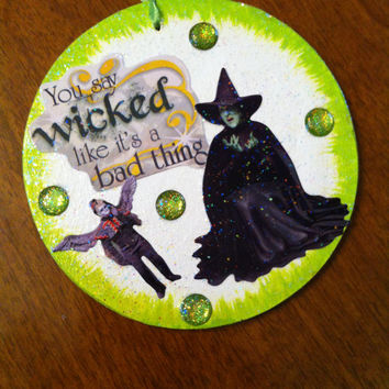 Wizard of Oz (Witch and Flying Monkey) Christmas ornament