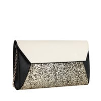 Tina 3 Tone Clutch Bag in White or Pink