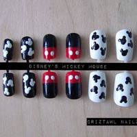 Disney Mickey Mouse Nail Art Set by CriztawlNailz on Etsy