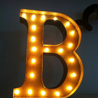 Vintage Marquee Lights Letter B by VintageMarqueeLights on Etsy