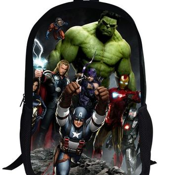 16-inch Mochilas Avengers backpack For Teenage Boys Children School Bags Heroes Cartoon Backpack Captin America Bags Age 7-13