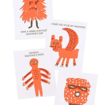 Monster Mini Valentine Cards