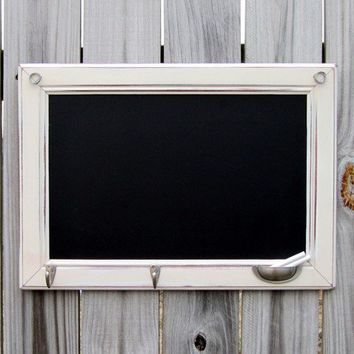 Natural White Large Rustic Framed Chalkboard with by TheDoorStop