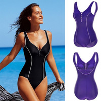 New Stylish Women's Button Push Up Sexy One-Piece Bikini Backless Swimwear Swimsuit W_C = 1946011140