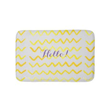 Watercolor pattern mat bathroom mat