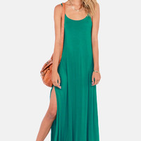 Teal Maxi Dress (Lulu's)