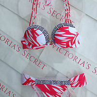 New Sexy Victoria's Secret Swimsuit Miraculous Add 2 cups Push Up Shimmer Greek