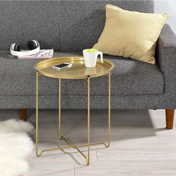 Round Fold Down Accent Table | Overstock.com Shopping - The Best Deals on Coffee, Sofa & End Tables