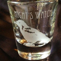 Night's Watch Game of thrones Inspired Custom Etched Shot Glass