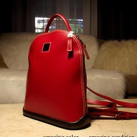 Gorgeous Rarer Dooney & Bourke Late 1990s USA-made Parasole Collection Very RAD RED Backpack Handbag: Unique, Chic, Sleek, Almost Perfect!