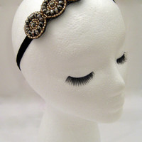 The Beatrice - Art deco headband, 1920s hair, Great Gatsby party headpiece, flapper costume, Prohibition party, speakeasy bar