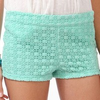 Crochet Overlay Hot Pants