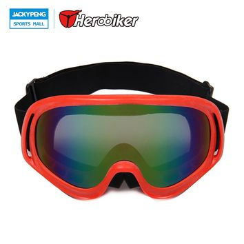 HEROBIKER Windproof Ski Snowboard Glasses Motorcycle Snowmobile Skate Eyewear Motocross Off-Road  DH Dirt Bike Racing Goggles