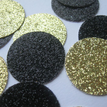 Gold and Black Wedding Glitter Table Confetti Gold Wedding Confetti Wedding Party Colors Wedding Ceremony Decor Wedding Reception Decor DIY
