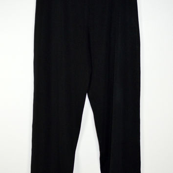 Exclusively Misook Black Knit Pull On Pant Size Small (Petite)