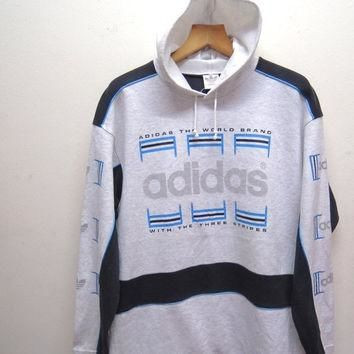 25% SALES ALERT Vintage 90's Adidas Big Logo Sweatshirt Hoodies Pull Over Sport Sweate