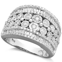 Diamond Band Ring in Sterling Silver (1-1/4 ct. t.w.)
