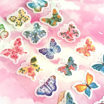 butterfly sticker butterfly theme Dancing butterfly colorful butterfly label sticker rare butterfly decor pretty butterfly collection