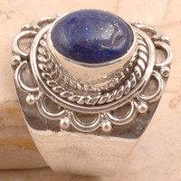 Modern Lapis 925 Sterling Silver Ring