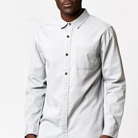 On The Byas Boss Half Placket Long Sleeve Button Up Shirt - Mens Shirt