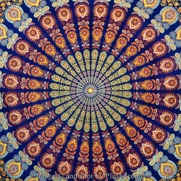 Indian Tapestry Hippy Mandala Tapestries throw decor Ethnic Wall hanging Queen Bedspread Sofa Cover Hippie Decorative wallart tapestry decor