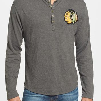 Men's Red Jacket 'Chicago Blackhawks - Primo' Long Sleeve Henley,