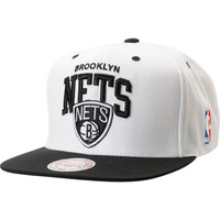 NBA Mitchell and Ness Brooklyn Nets Arch 2Tone White Snapback Hat