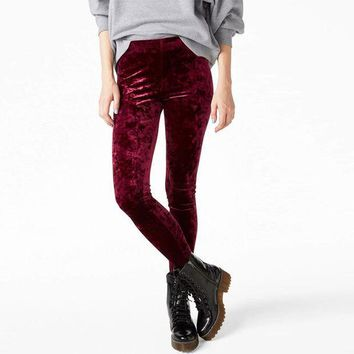 CREYYN6 Women Crushed Velvet Legging High Elastic Waist Velvet Legging many colors for you!!